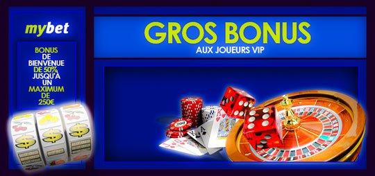 Bonus de casino Mybet
